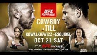 UFC Fight Night 118: Cerrone vs Till прогноз