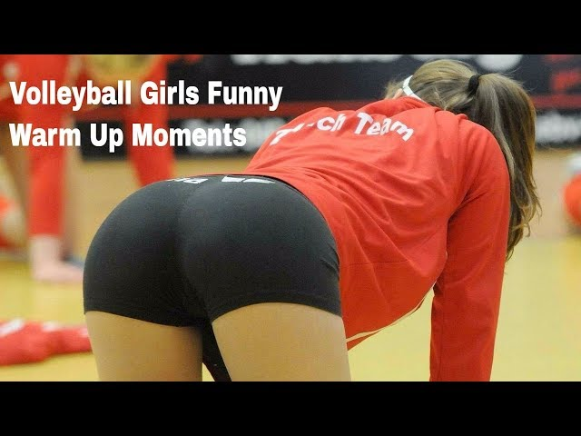 Best Sexy Warm Up Moments Of Beauty Girl Volleyball Player