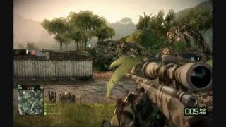 Battlefield Bad Company 2 Sniping Advice/Tips Gameplay with Commentary