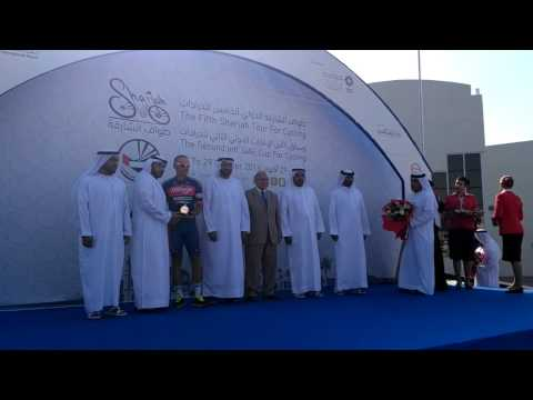 2016 Sharjah Tour Stage 2 - Winner's award ceremony - Siarhe