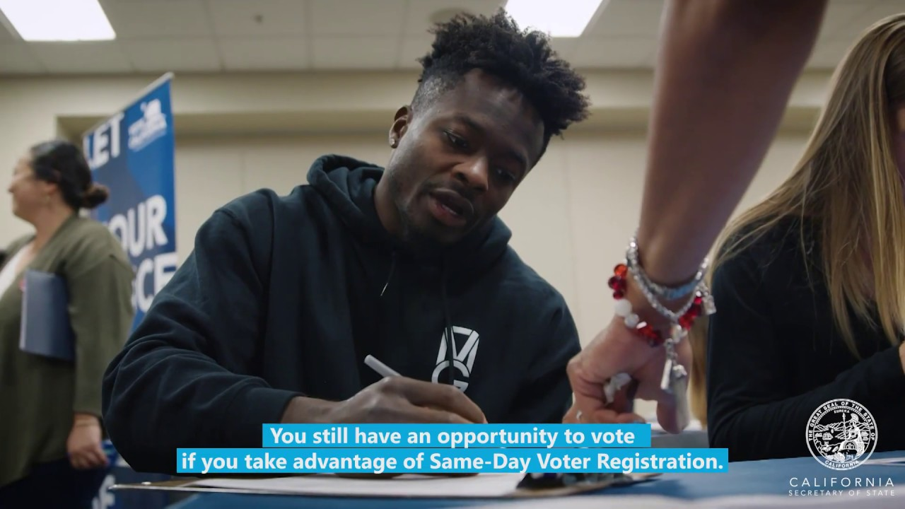 It's Voter Registration Day. Here's How To Register In California ...