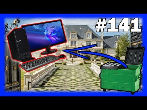Dumpster Diving Computer Found In Party House Dumpster! Night 141