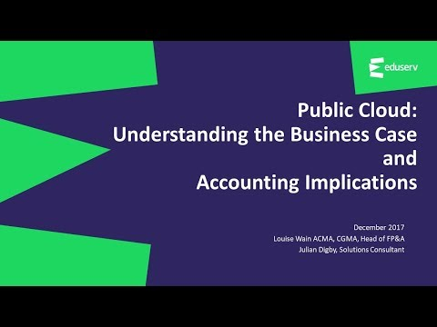 Public cloud: Understanding the business case and accounting implications