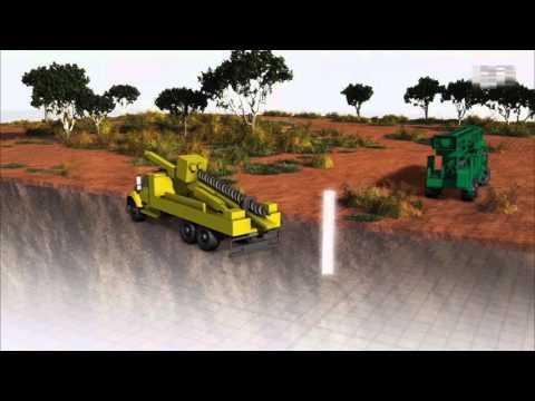 Drilling simulation animation