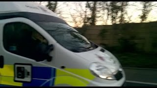 Police Camera Van Driver Using Mobile Phone Whilst Driving