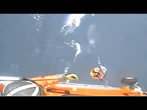 LiveLeak - Coast Guard Hoists Sailor In Distress In Heavy-weather Rescue