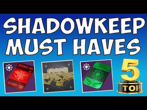 Destiny 2 - TOP 5 WEAPONS TO HAVE BEFORE SHADOWKEEP!