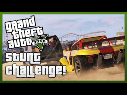 GTA 5: Stunt Challenge! - Episode 4 (GTA V Stunts & Tricks)