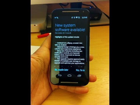 Moto G 2nd Gen Android 5.0 (lollipop update)