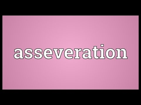 Header of asseveration