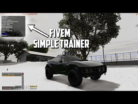 FiveM - How To Install Simple Trainer And Fix The Car Spawning Glitch
