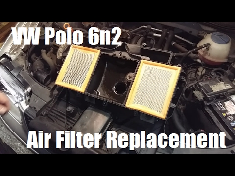 How to change a vw polo 6n2 air filter and engine cover youtube how to change a vw polo 6n2 air filter and engine cover sciox Choice Image