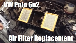 How to change a VW Polo 6n2 Air Filter and Engine Cover