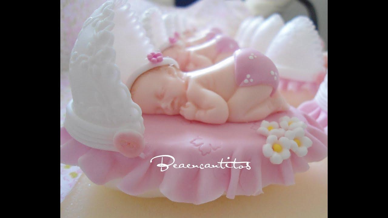 Beb dormil n en cunita todo en porcelana fr a youtube - Adornos para bebes ...