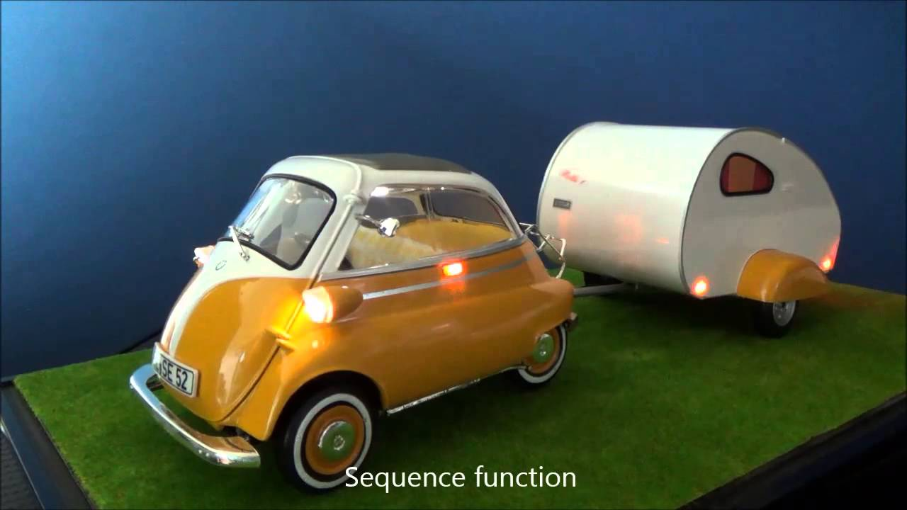 revell 1 18 bmw isetta 250 camper led tuning youtube. Black Bedroom Furniture Sets. Home Design Ideas