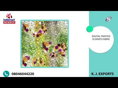 Printed and Scarves Fabric By K. J. Exports, Faridabad