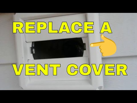 Replacing an outside vent cover or hood on dryer vent or - Exterior bathroom exhaust vent covers ...