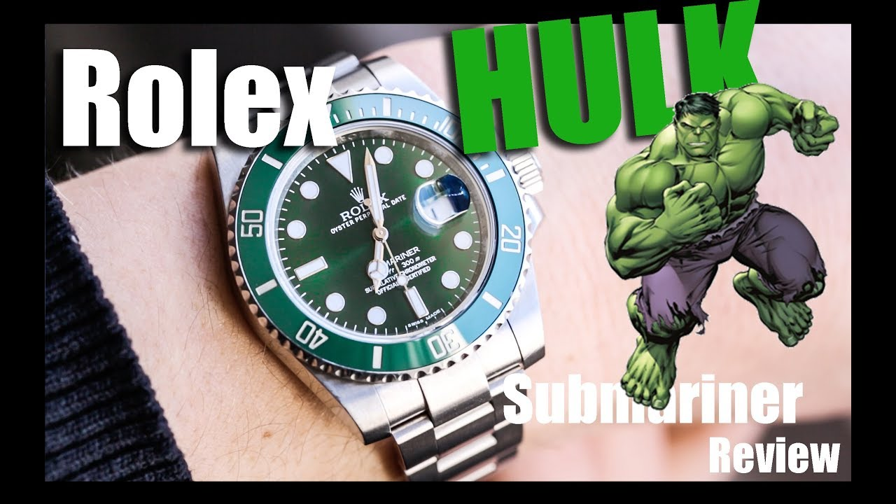 71dd872348a Rolex Submariner HULK review - YouTube