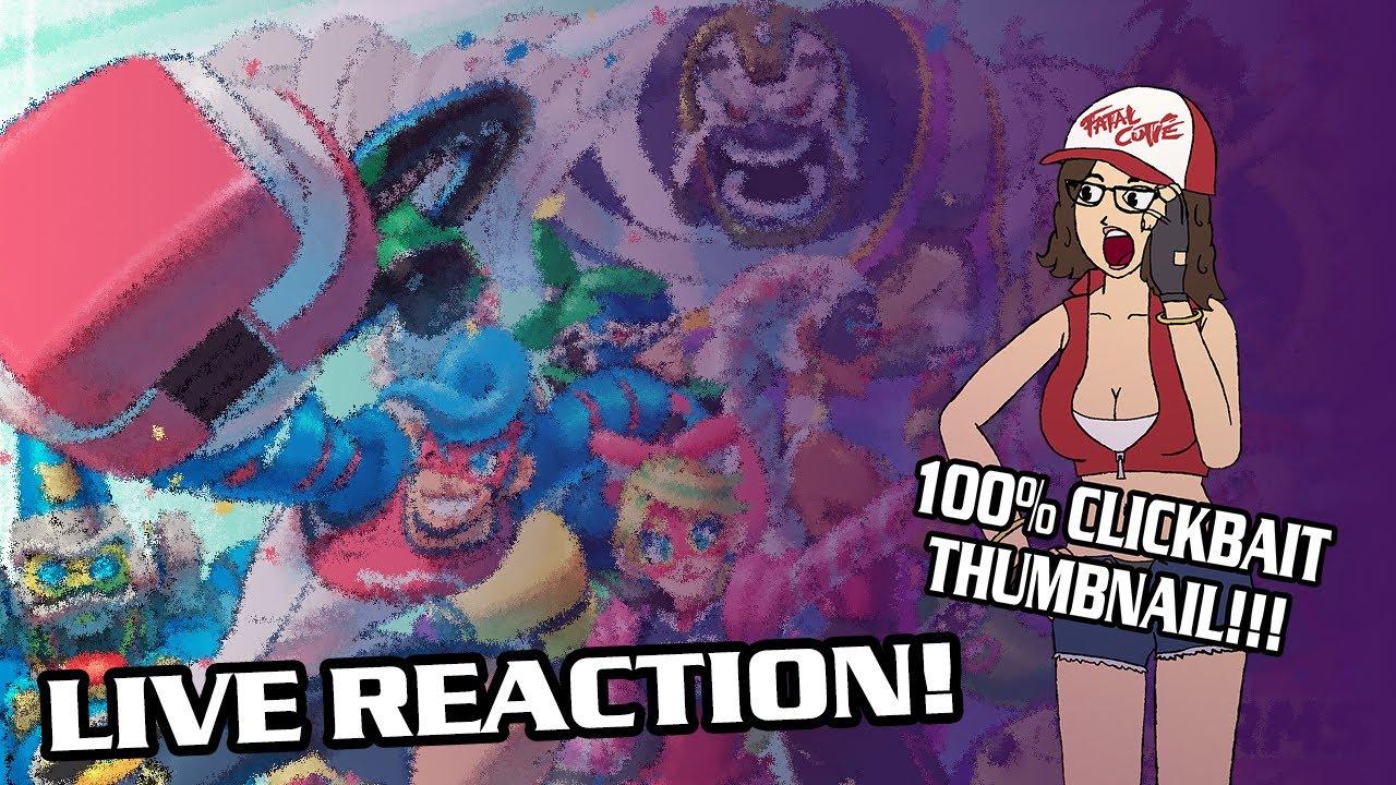 Smash Bros - Min Min Reveal Live Reaction!