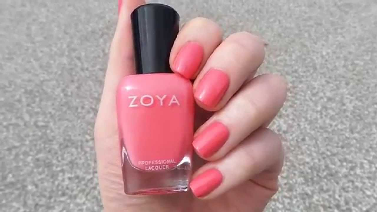 Zoya Nail Polish Zoya Wendy From The Summer 2014 Tickled Collection Youtube
