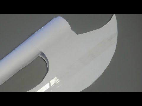 How to make a simple paper axe