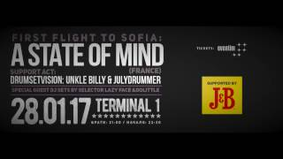 A STATE OF MIND Live @ Club Terminal 1 - 28 January 2017! TEASER