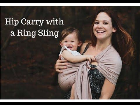 f5c3c62421c How to Use a Ring Sling - Hip Carry - for babies over 6 months. Pura Vida  Slings