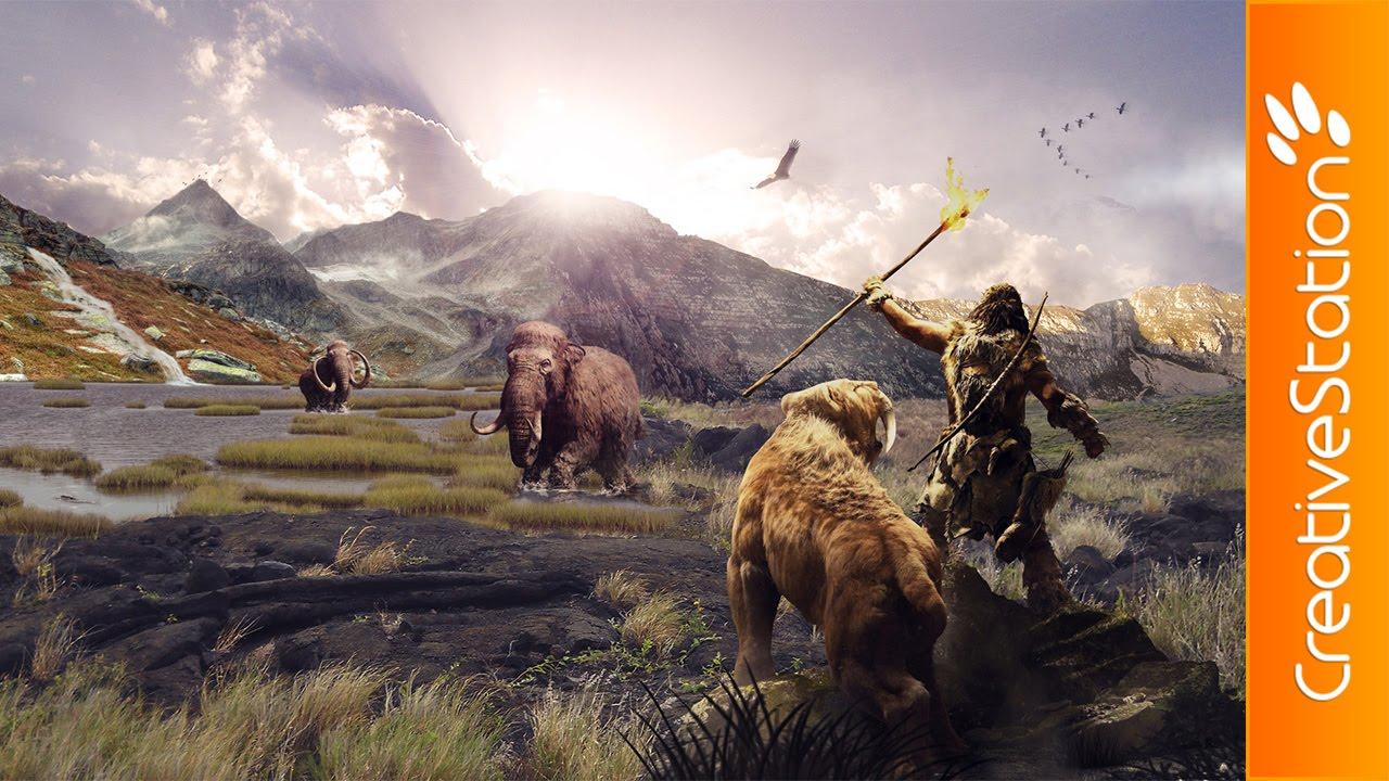 Far Cry Primal Speed Art Photoshop Creativestation Youtube