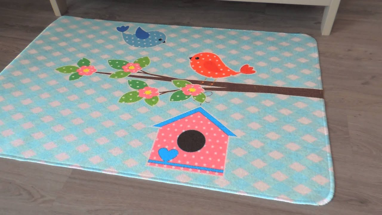 ... Speelkleed kinderkamer - Kleed kinderkamer - Kindertapijt - YouTube