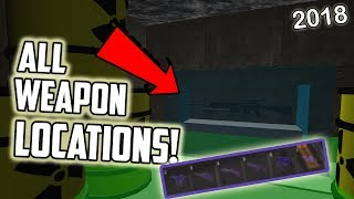 [ROBLOX] Survive and Kill the Killers in Area 51 All 6 Weapon Location! (2018)