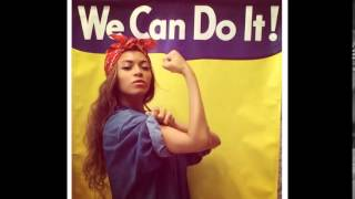 """BEYONCE : Poses as Feminist """"Rosie the Riveter"""" / Shares Pic of Blue Ivy"""