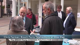 Chris Farmer & Christina Simmonds from The BREXIT Party at Gloucester Day September 2019