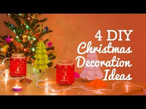 4 DIY Christmas Decoration Ideas | Easy DIY Room Decor