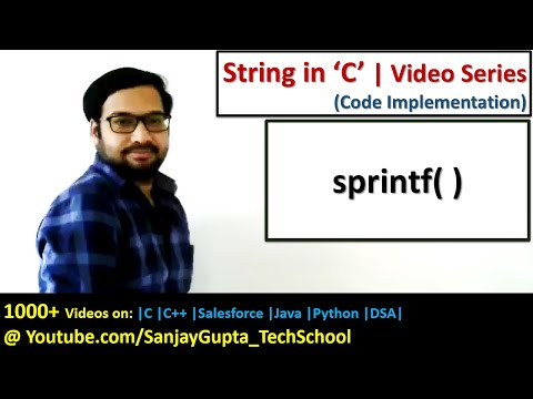 C Programming | How To Use Of Sprintf( ) Function In Programming In C | By Sanjay Gupta