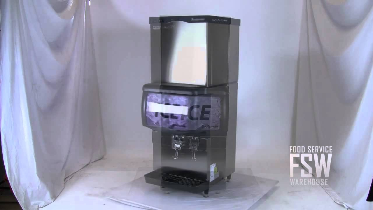 Countertop Ice Maker Youtube : ... 549 Lb Half Size Cube Ice Machine with Countertop Dispenser - YouTube