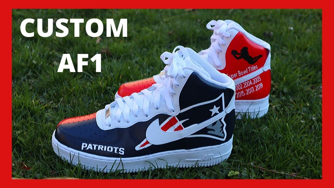 Custom Air Force 1 High Top Patriots Tutorial 2020 Easy