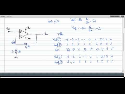 ElectroTutorial 176 Op-Amp Schmitt Trigger Histeresis