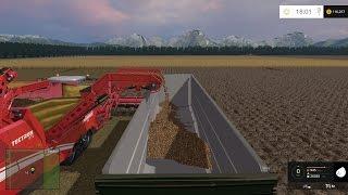 FARM SIM SATURDAY....Harvesting barley and potato's in one big field