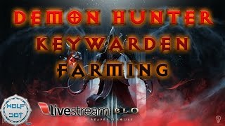 [Live Stream](01/22/2014)Diablo III With Demon Hunter - Keywarden Farming
