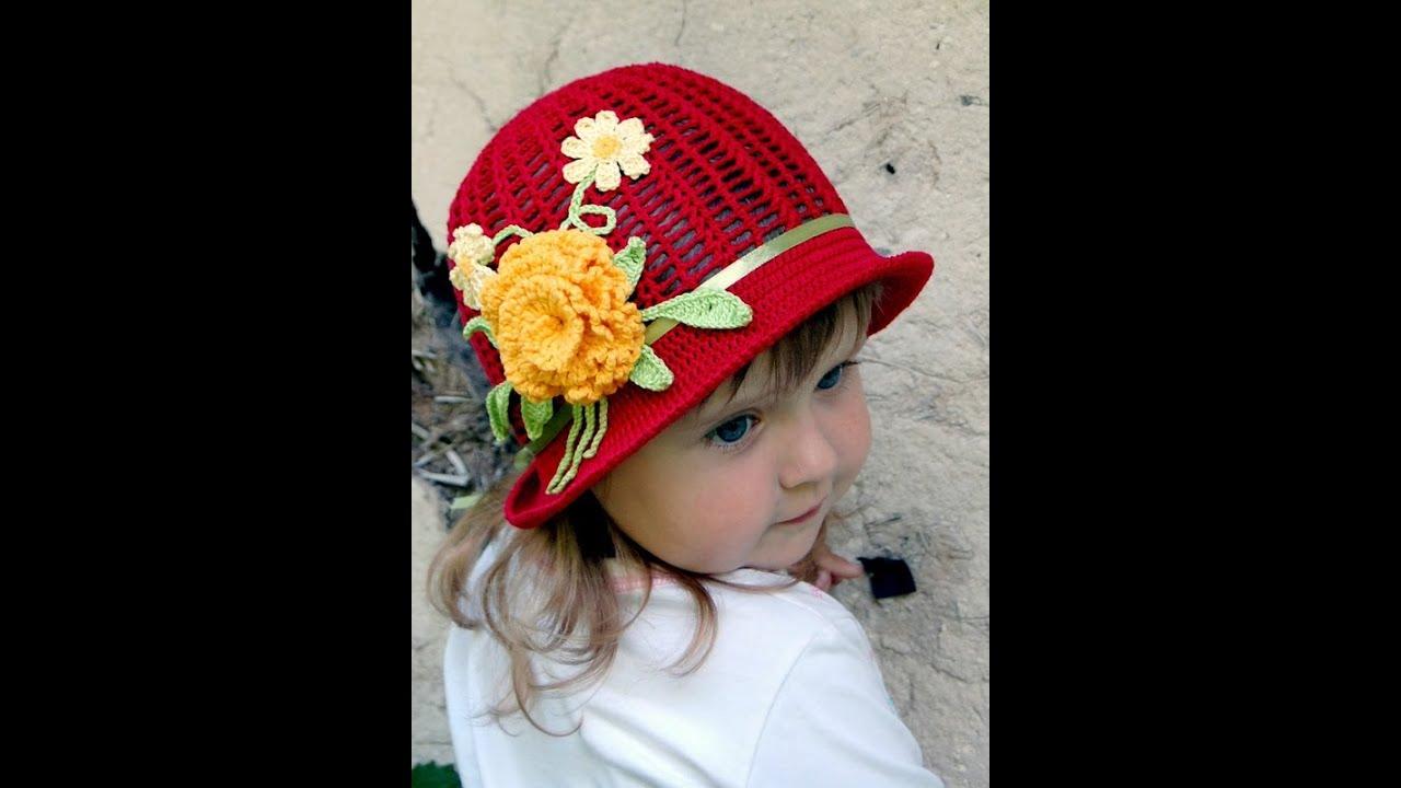 Красивые вязаные крючком шляпы