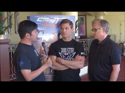 with Casper Van Dien and Ed Neumeier for Starship Troopers: Traitor of Mars