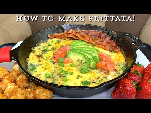 HOW TO MAKE A THREE CHEESE SPINACH AND BACON FRITTATA!