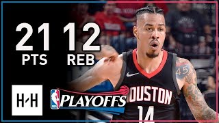 Gerald Green Full Game 2 Highlights Rockets vs Timberwolves 2018 Playoffs - 21 Pts, 12 Reb!