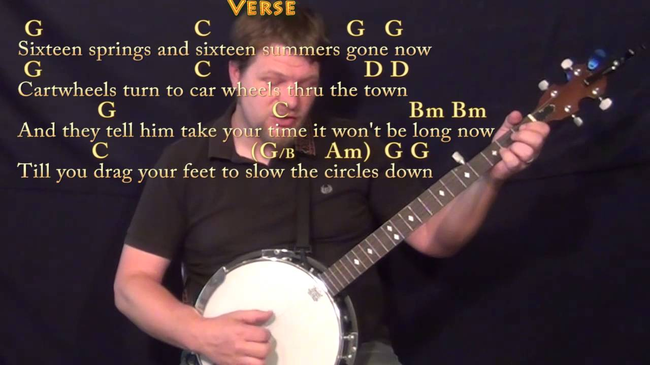 Circle Game Joni Mitchell Banjo Cover Lesson In G With Chords