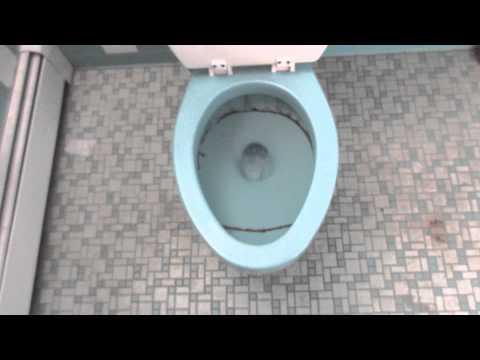 Blue 1964 American Standard Cadet Toilet Youtube