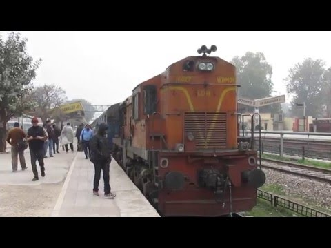 Locomotive reversed & getting attached for Bikaner SF express at Shri Ganganagar!