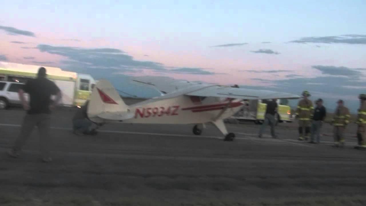 Piper Colt - After an attempted cross-wind landing