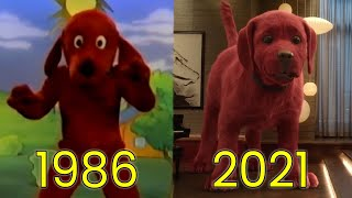 Evolution of Clifford tнe Big Red Dog in Movies, Cartoons & TV (1986-2021)