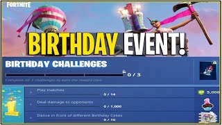 *NEW* Fortnite: BIRTHDAY CELEBRATION ON 24th! | (Unlock Exclusive Items and Fireworks Event!)