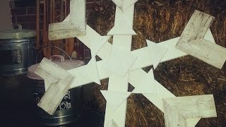 Make A Rustic Wooden Snowflake - Diy Home - Guidecentral